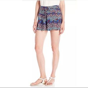 Anthropologie Ella Moss Multi Colored Tribal Short
